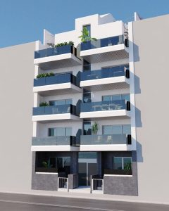 three bed new build apartments 300 m from the beach in Torrevieja